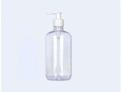 Clear Round Boston Plastic Bottles